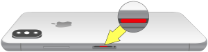 iphone x-XS-XS Max liquid contact indicator