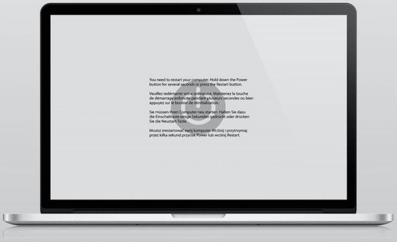 Kernel panic MacBook